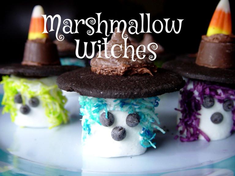Halloween Treats: Marshmallow Witches
