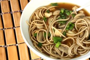 Michael Smith's Mushroom Miso Broth with Buckwheat Noodles