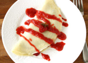 My Low Fat Strawberry Nutella Crepes