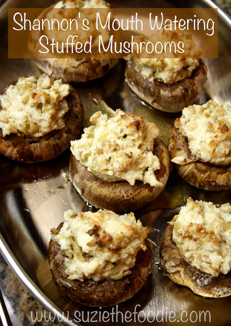 Shannon's Mouth-Watering Stuffed Mushrooms - Suzie the Foodie