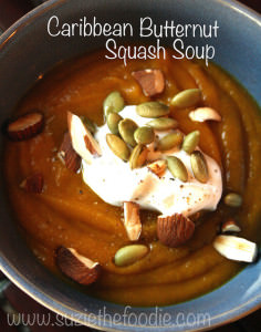 """Everything Nice"" Caribbean Roasted Butternut Squash Soup"