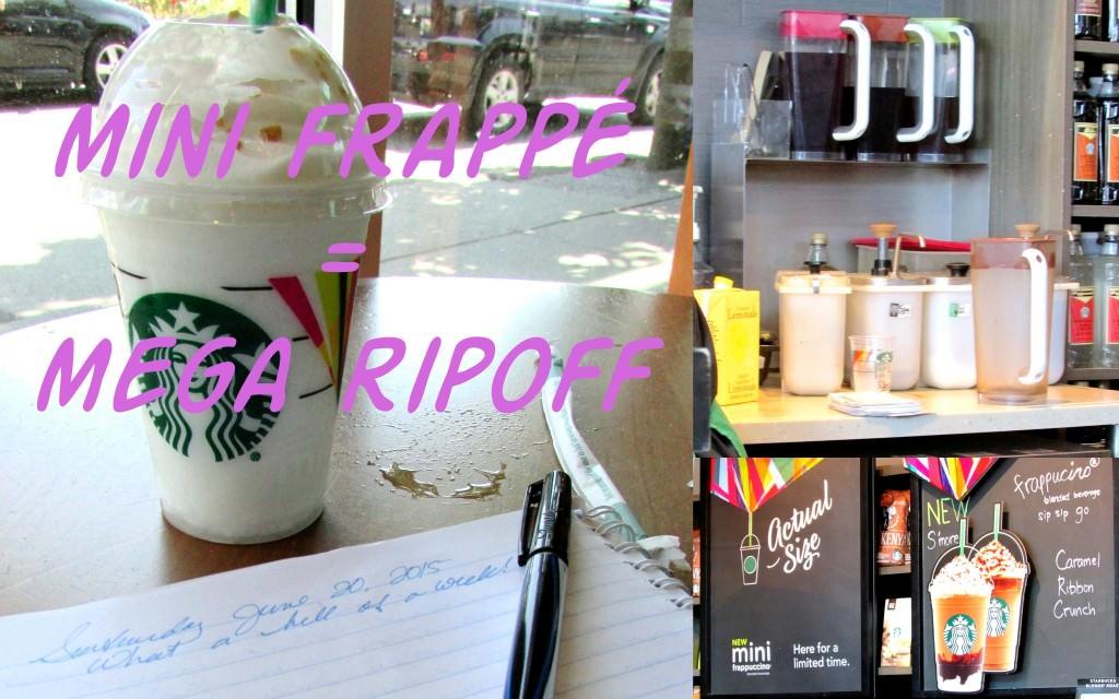 Starbucks Mini Frappé is Mega Ripoff!