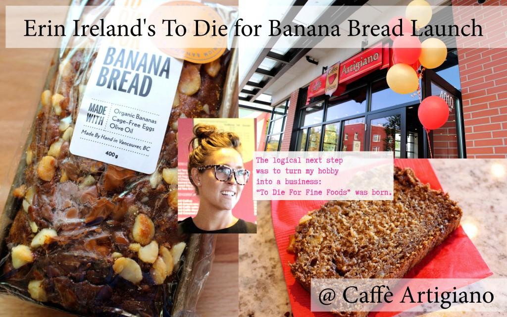 Erin Ireland's To Die For Banana Bread Launch at Caffè Artigiano