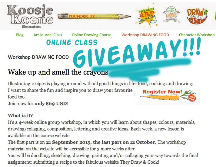 Drawing Food Giveaway!!! Contest is now closed.