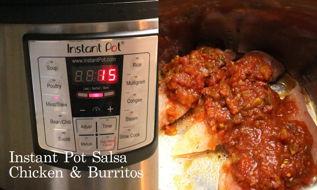Instant Pot Salsa Chicken and Burritos