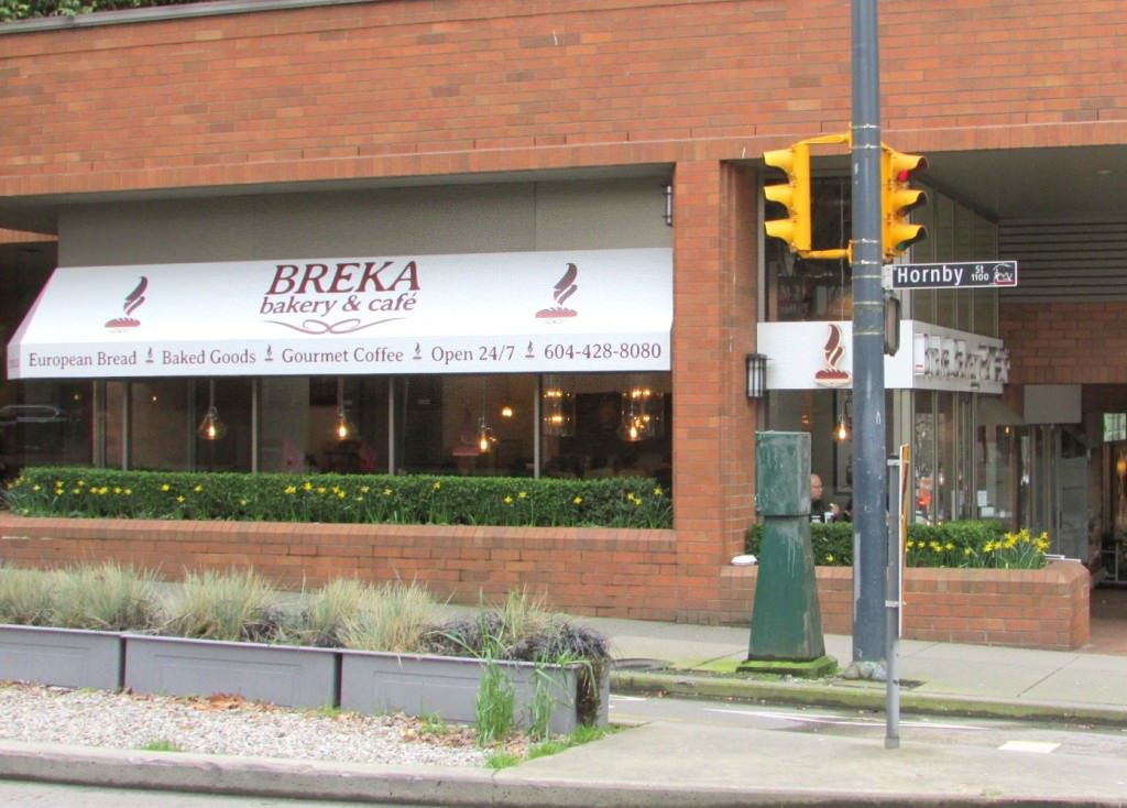 Lunch at Breka on Davie Street, Vancouver