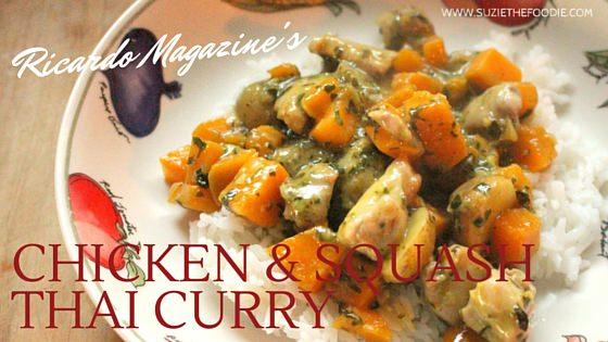 Ricardo Magazine's Chicken and Squash Thai Curry