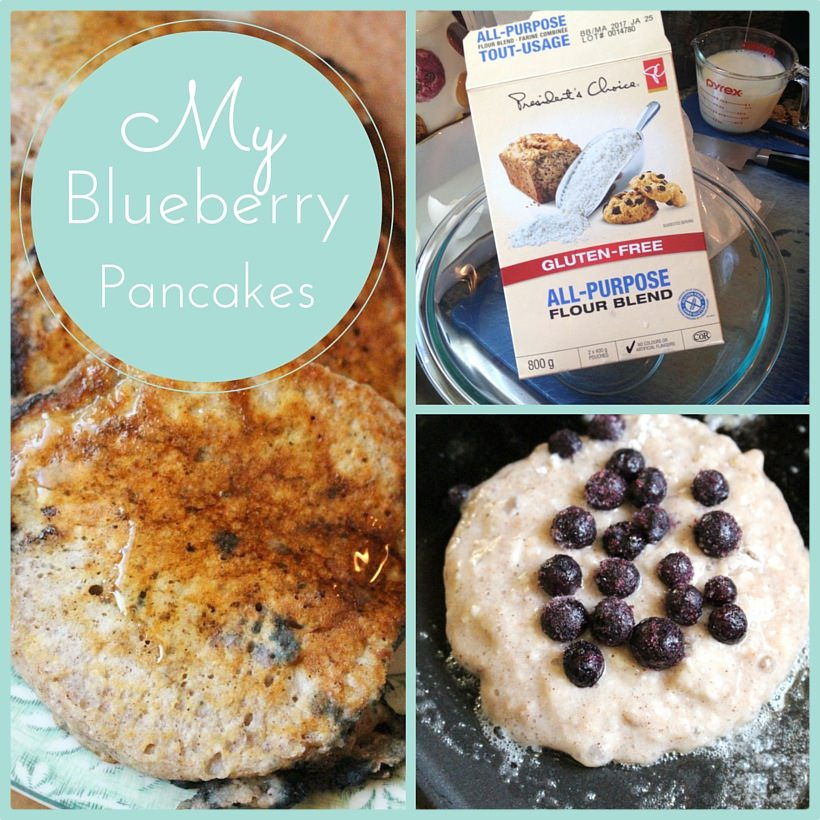 My Blueberry Pancake Recipe & PC's Gluten-Free All Purpose Flour Product Review