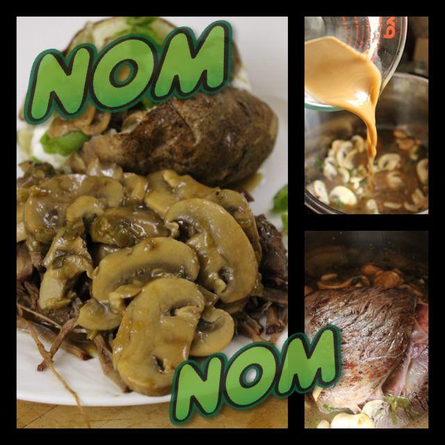 Instant Pot Old School Swiss Steak with Mushroom Gravy