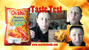 The spice wimp takes on Oishi's spicy prawn crackers!
