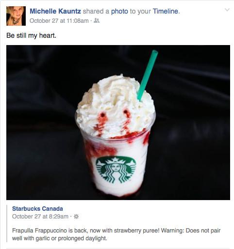 Starbucks' Frappula Frappuccino