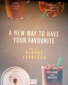 Intel About Starbucks' Blonde Hazelnut Latte