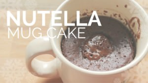 Recipe Test of Nutella Cake in a Mug… My First Mug Cake!