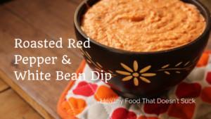 Roasted Red Pepper & White Bean Dip