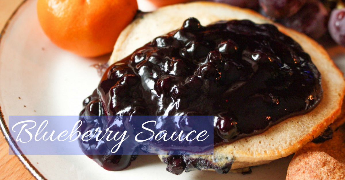 Homemade Blueberry Sauce with Blueberry Liqueur