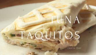 Earth Day Waffled Tuna Taquitos