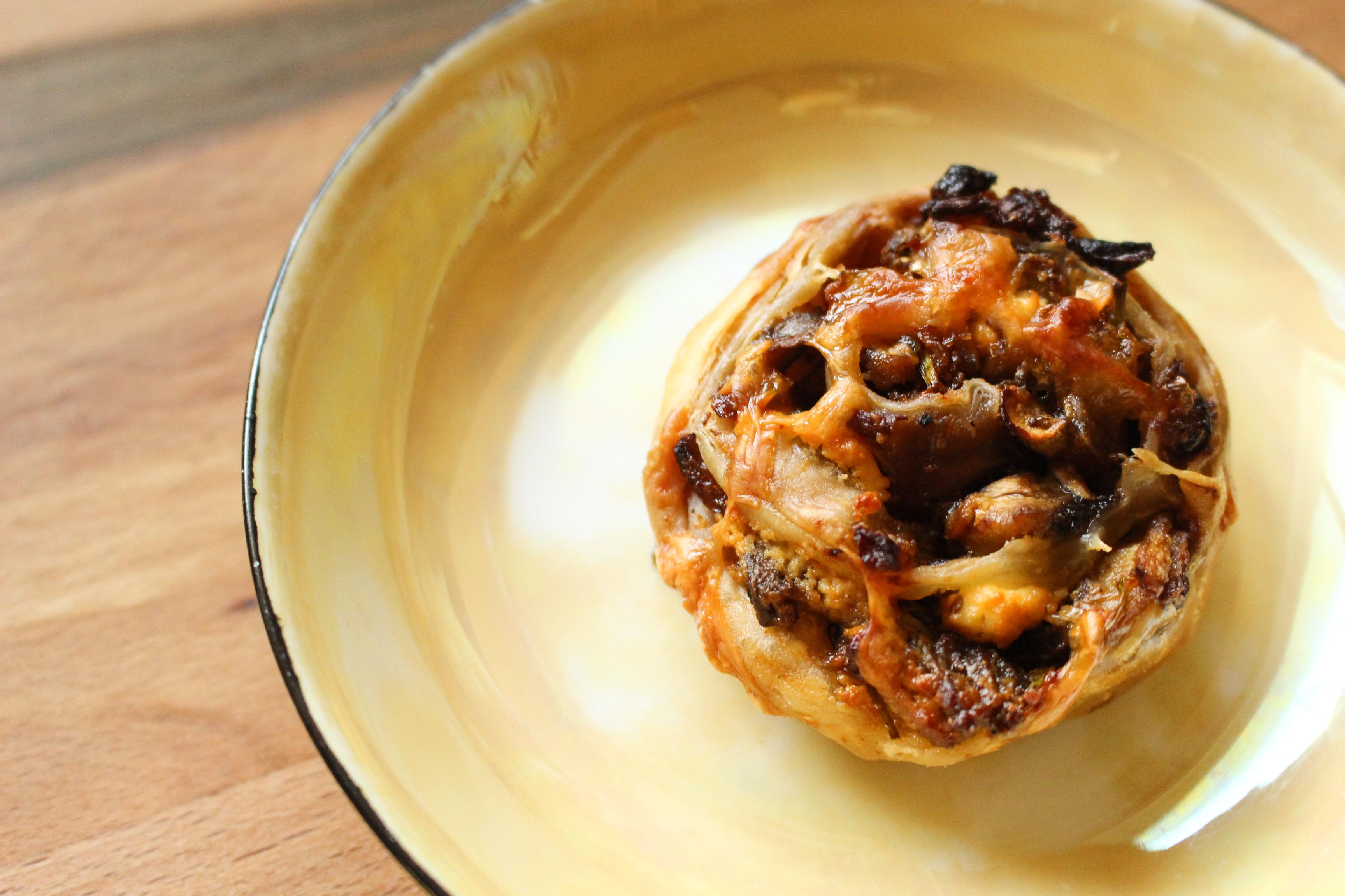 Mushroom Caramelized Onion Tarts - Suzie The Foodie