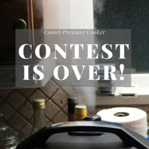 Cosori Pressure Cooker Giveaway!!!