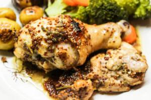 Yum & Yummer's Honey Mustard & Herb Roasted Chicken