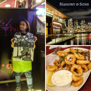 Calamari and Paint At Mahony & Sons