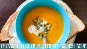 Suzie The Foodie's Pressure Cooker Butternut Squash Soup