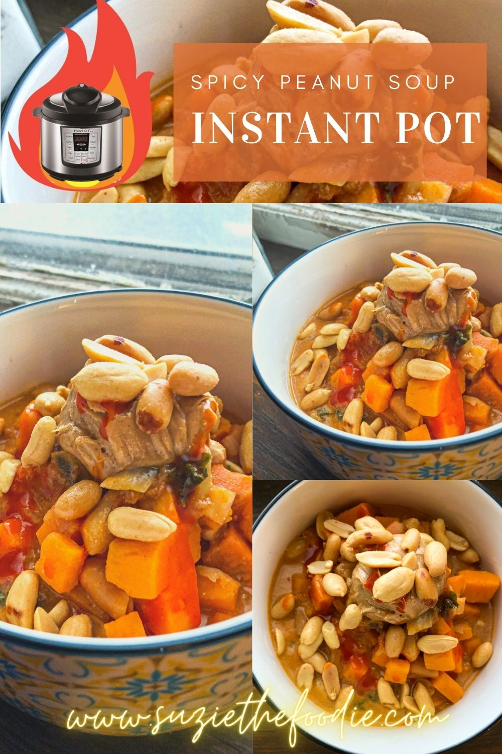 Instant Pot Spicy Peanut Soup with Sweet Potato And Kale